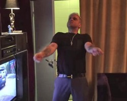 Watch Robbie Williams' hilarious home video dancing to Lethal Bizzle's Fester Skank