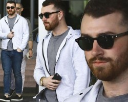 Sam Smith shows off his new shaggy beard in Miami